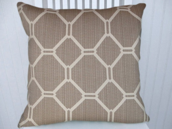 Beige/Grey Geometric Decorative Pillow CoverNEW 18x18 or