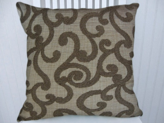 Brown Chenille Throw Pillows : Brown Chenille Pillow Cover18x18 or 20x20 by CodyandCooperDesigns