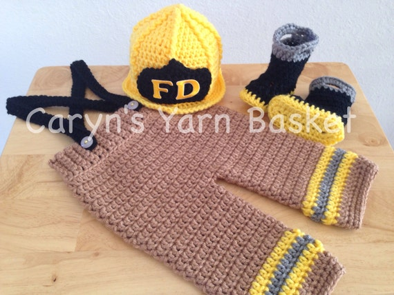 Crochet Patterns For Baby Frocks : CROCHET PATTERN 6 Month Size Baby Firefighter Fireman Hat
