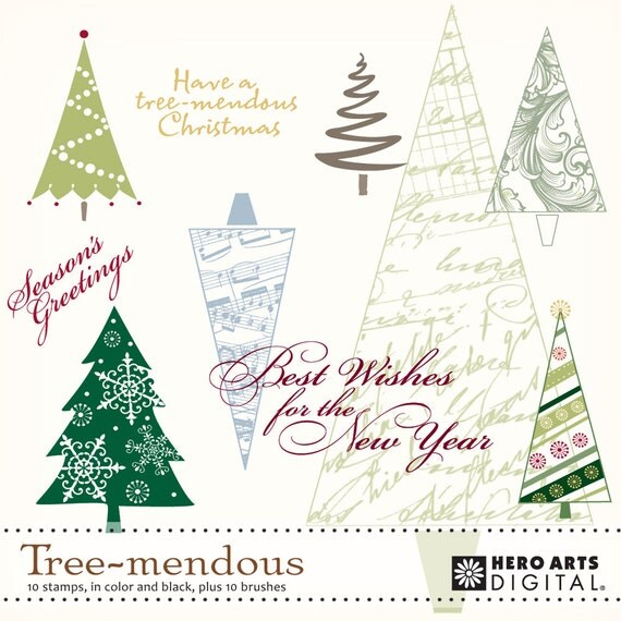 Instant Download Hero Arts Tree-Mendous Digital Kit DK025