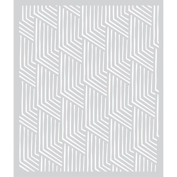Hero Arts BasicGrey Deco Design Stencil SA029