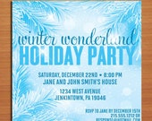 Winter Wonderland Pine /  Christmas Party DIY Customized Printable Party Invitations