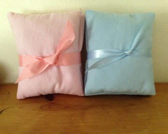 BLANKET and PILLOW SET - for Ella's dolly cradle -