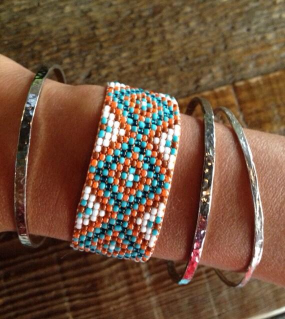Beaded Diamond: Diamond Design Bead Loom Bracelet