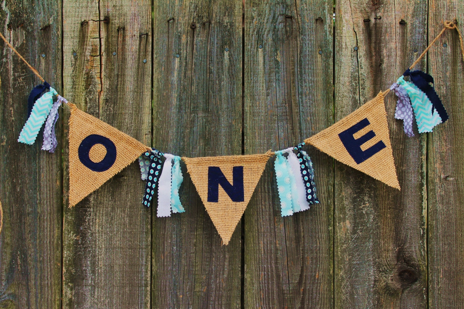 burlap banner for high chair first birthday banner