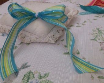 4 Bows with Long Tails for Hair or Packages