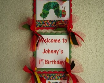 Hungry Caterpillar Door Sign