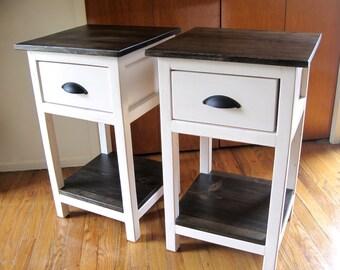 Mini Farmhouse Table / Nightstand Rustic Wood