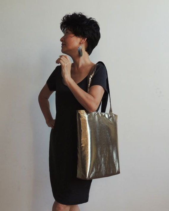 Metallic Gold Tote Bag