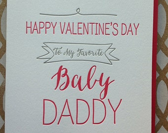 funny valentines day card baby daddy card cute funny valentine for husband boyfriend - Happy Valentines Cards