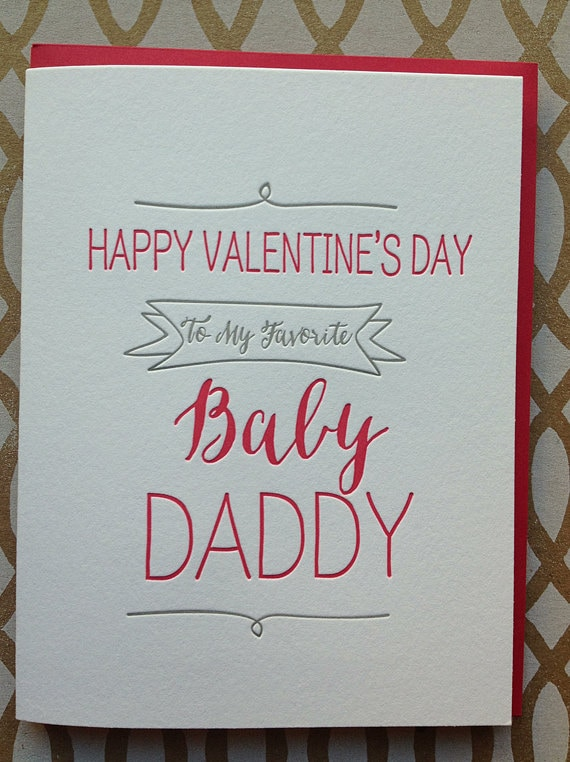 Funny Valentines Day Card Baby Daddy Card Cute Funny