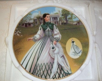 Scarlett O'Hara Gone With the Wind 'The Country Walking Dress' Decorative Plate Bradford Exchange