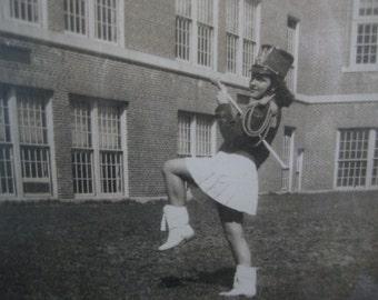 Vintage Framed 1940's Majorette Photograph