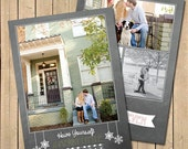 Christmas Card, Merry Little Christmas Holiday Card - Includes Custom Photo and Colors, 5x7 Double Sided