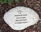 Engraved Garden Stone Any Message Unique Personalized Anniversary Wedding Birthday Gift