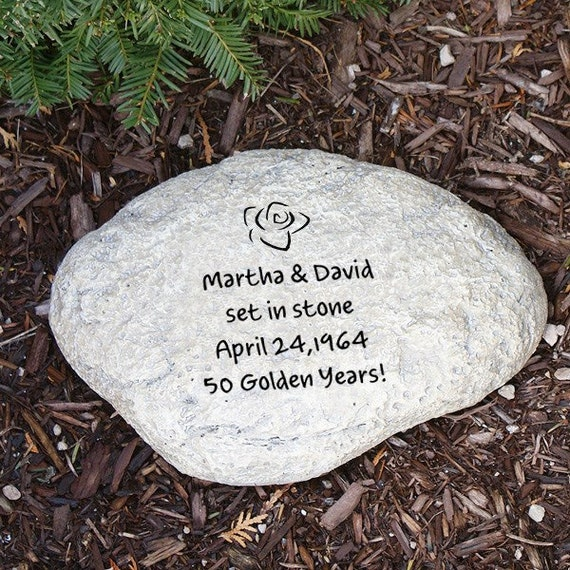 Engraved garden stone any message unique personalized for Personalized garden stone