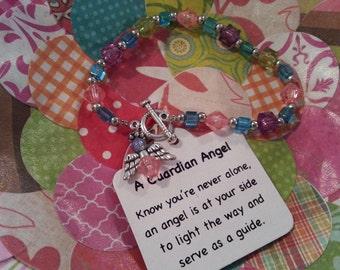 Guarding angel beaded bracelet