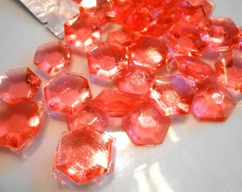 30 Candy Gem Cake Toppers, October Trend, Pink Tourmaline, Birthstone, Birthday Cake Decoration