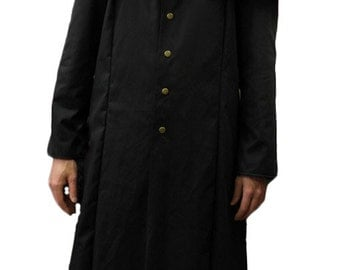 NEW! Black Cotton Drill Ghost/Nameless Ghoul Robe/Coat. Cosplay/LARP/Steampunk