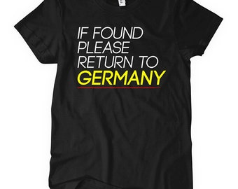 Women's Return to Germany T-shirt - S M L XL 2x - Ladies' Deutschland Tee - 2 Colors