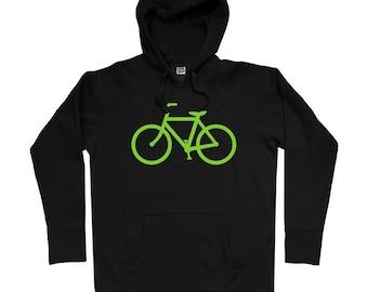 Bike Route Hoodie - Men S M L XL 2x 3x - Bicycle Hoody Sweatshirt - Cycling - 4 Colors