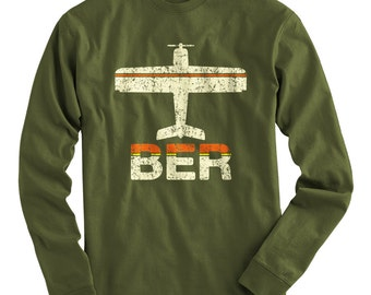 LS Fly Berlin Tee - BER Airport Long Sleeve T-shirt - Men and Kids - S M L XL 2x 3x 4x - Germany - 3 Colors