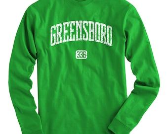 LS Greensboro 336 T-shirt - Long Sleeve Tee - Men and Kids - S M L XL 2x 3x 4x - North Carolina - 4 Colors