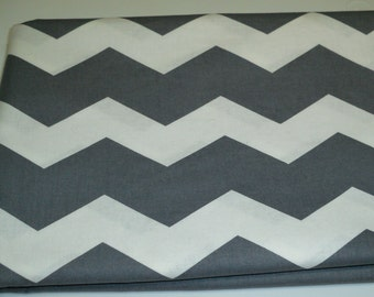Chevron Baby Toddler Bed Fitted Sheet Grey White