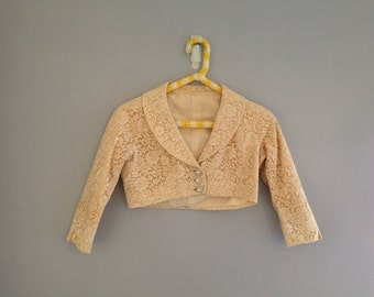 Cream lace bolero jacket
