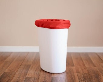 CLOSEOUT - Diaper Pail Liner - Red Reusable Garbage Pail Liner - Laundry Bag -  Cloth Diaper Pail