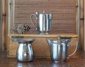 Stainless Steel Pitcher - Cream or Syrup - Diner Industrial Mid Century
