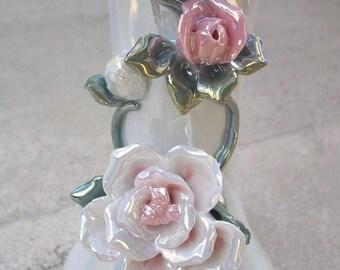 Lustreware Vase with Flowers