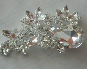 Crystal brooch Rhinestone Brooch - Crystal Brooch Pin-  Bridal Wedding Bouquets - Bridal Sash