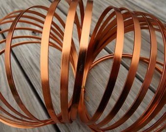 Aluminum craft wire ,copper color 5 mm flat, 24 foot coil