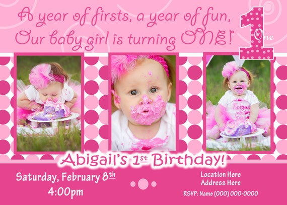 1st birthday girl invitation 1st birthday girl invite everything il570xn stopboris Gallery