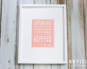 Baked Mac & Cheese Kitchen Art Print with Handlettering