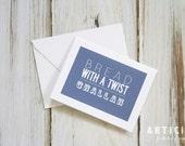 Challah Bread Recipe Greeting Card A-2