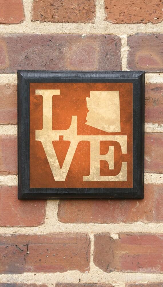Arizona AZ LOVE Wall Art Sign Plaque Gift Present Home Decor