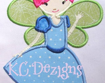 Princess Fairy 2 Machine Applique Embroidery Design - 4xx4, 5x7 & 6x8
