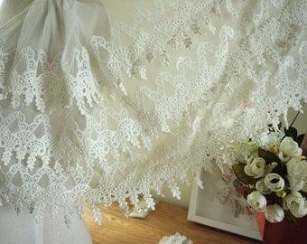 white trim lace for bridal veil wedding dress lace, teardrop trim