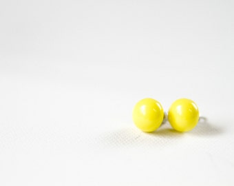 Round Yellow Post Earrings