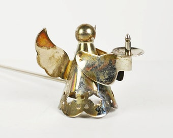 Vintage Candle Snuffer Angel in Silver
