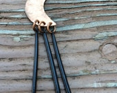 Copper Moon & Porcupine Quill Necklace