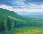 """Original 4"""" x 4"""" oil painting"""