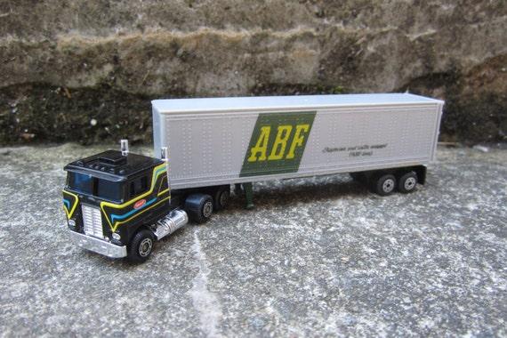 Nfl Toy Trucks : Small vintage toy truck abf peterbilt hong kong big rig semi