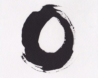 Enso II - December 2013, sumi ink on watercolor paper, small art work