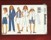 Butterick 3092 Beach Wardrobe Pattern with Super Casual Capri Pants Jacket & Vest Sizes 14.16.18 UNCUT