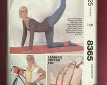 Vintage 1980s McCalls 8365 Sports Accessories Pattern Totes Bike Bag Gaiters Exercise Mat & More  UNCUT