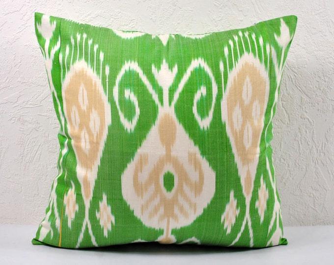 Ikat Pillow, Hand Woven Ikat Pillow Cover A406-1aa3, Ikat throw pillows, Designer pillows, Decorative pillows, Accent pillows