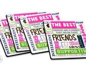 Best Friend Coasters - Set of 4 - Besties Coasters - Set of Coasters - Great Gift Idea